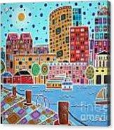Boston Harbor Acrylic Print by Karla Gerard