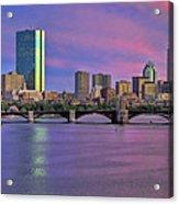 Boston Pastel Sunset Acrylic Print by Joann Vitali