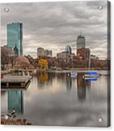 Boston Reflections Acrylic Print by Linda Szabo