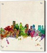 Boston Skyline Acrylic Print by Michael Tompsett