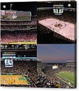 Boston Sports Teams And Fans Acrylic Print by Juergen Roth