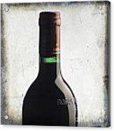 Bottle Of Bordeaux Acrylic Print by Bernard Jaubert