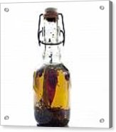 Bottle Of Oil Acrylic Print by Bernard Jaubert