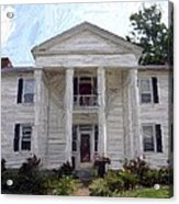 Bottom-mcafee-guthrie House - Perryville Ky Acrylic Print by Thia Stover