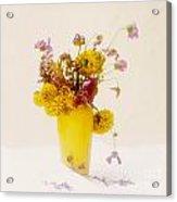 Bouquet Of Flowers Acrylic Print by Bernard Jaubert