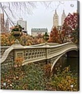 Bow Bridge In Central Park Acrylic Print by June Marie Sobrito