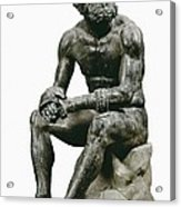 Boxer Seatted. 1st C. Hellenistic Art Acrylic Print by Everett