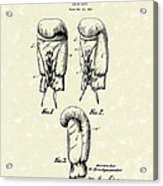 Boxing Glove 1925 Patent Art Acrylic Print by Prior Art Design