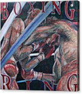 Boxing Ring Acrylic Print by Kate Fortin