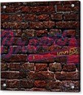 Braves Baseball Graffiti On Brick  Acrylic Print by Movie Poster Prints
