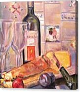 Bread And Wine Acrylic Print by Dorothy Siclare