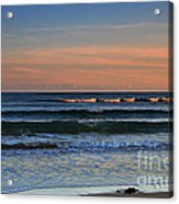 Breakers At Sunset Acrylic Print by Louise Heusinkveld