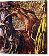 Breakfast After The Bath Le Petit Dejeuner Apres Le Bain Acrylic Print by Edgar Degas