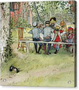 Breakfast Under The Big Birch Acrylic Print by Carl Larsson