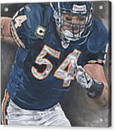 Brian Urlacher Seek And Destroy Acrylic Print by David Courson