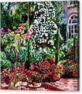 Brick Steps Acrylic Print by David Lloyd Glover