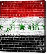 Brick Wall Iraq Acrylic Print by Antony McAulay