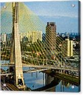 Bridge In Sao Paulo Acrylic Print by Daniel Precht