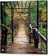 Bridge Over Waterfall Acrylic Print by Nawarat Namphon