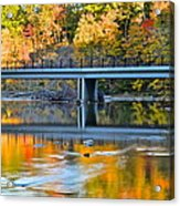 Bridges Of Madison County Acrylic Print by Frozen in Time Fine Art Photography
