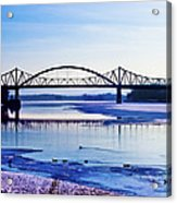 Bridges Over The Mississippi Acrylic Print by Christi Kraft