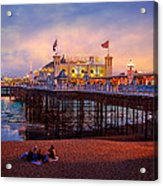 Brighton's Palace Pier At Dusk Acrylic Print by Chris Lord
