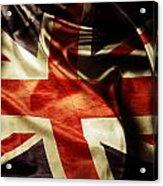 British Flag  Acrylic Print by Les Cunliffe
