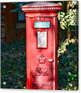 British Mail Box Acrylic Print by Paul Ward