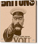 Britons Your Country Needs You  Acrylic Print by War Is Hell Store