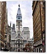 Broad Street Philadelphia Acrylic Print by Bill Cannon