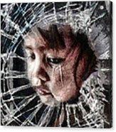 Broken Acrylic Print by Mo T
