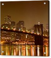 Brooklyn Bridge And Downtown Manhattan Acrylic Print by Val Black Russian Tourchin