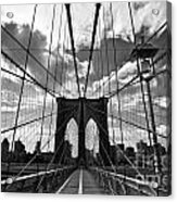 Brooklyn Bridge Acrylic Print by Delphimages Photo Creations