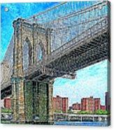 Brooklyn Bridge New York 20130426 Acrylic Print by Wingsdomain Art and Photography