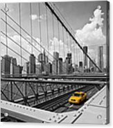 Brooklyn Bridge View Nyc Acrylic Print by Melanie Viola