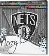 Brooklyn Nets Acrylic Print by Joe Hamilton