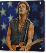 Bruce Springsteen 'born In The Usa' Acrylic Print by David Dunne