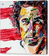 Bruce Springsteen Acrylic Print by Derek Russell