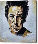 Bruce Springsteen Acrylic Print by Jeremy Moore