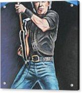 Bruce Springsteen  Acrylic Print by Melinda Saminski