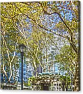 Bryant Park Afternoon Acrylic Print by Richard Trahan