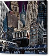 Bryant Park Collage Acrylic Print by Chris Lord