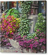 Bryant Park Grill 3 Acrylic Print by Muriel Levison Goodwin