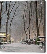 Bryant Park - Winter Snow Wonderland - Acrylic Print by Vivienne Gucwa