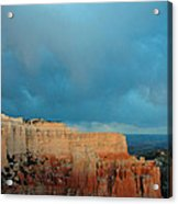 Bryce Canyon And Stormy Sky Acrylic Print by Bruce Gourley