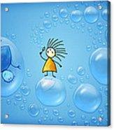 Bubble Folks Acrylic Print by Gianfranco Weiss