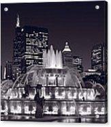 Buckingham Fountain Panorama Acrylic Print by Steve Gadomski