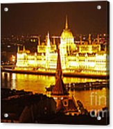 Budapest At Night Acrylic Print by Gregory Dyer