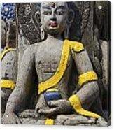 Buddha Figure In Kathmandu Nepal Acrylic Print by Robert Preston