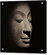 Buddha Head From The Early Ayutthaya Period Acrylic Print by Siamese School
